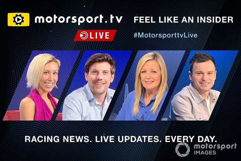 Motorsport.tv Live presenta a sus cuatro presentadores de noticias