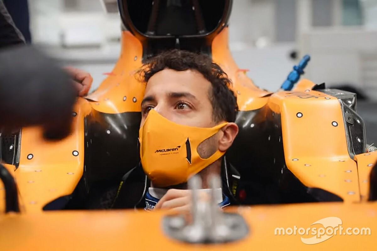 McLaren MCL35: Ricciardo esordirà domani nel filming day