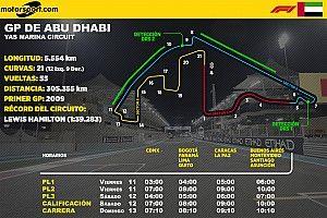 Horarios para Latinoamérica del GP de Abu Dhabi F1