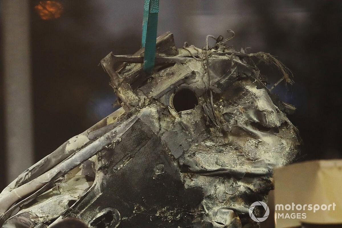 Rogo Grosjean: a fuoco la benzina, la batteria non c'entra
