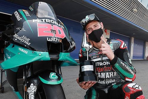 Quartararo dedicates maiden MotoGP win to COVID victims