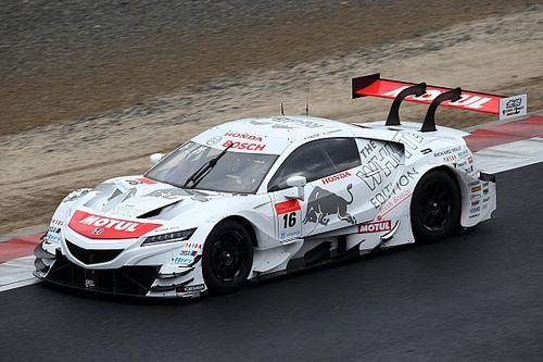 """岡山公式テストに登場した""""白いレッドブル""""カラーのMOTUL MUGEN NSX-GT"""