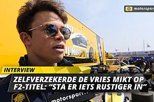 """Zelfverzekerde De Vries mikt op F2-titel: """"Sta er rustiger in"""""""