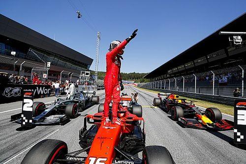 F1オーストリア予選:ルクレール圧巻PPも、ベッテルに悪夢。フェルスタッペン3番手