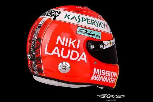 Veja capacete que Vettel usará em homenagem a Lauda no GP de Mônaco