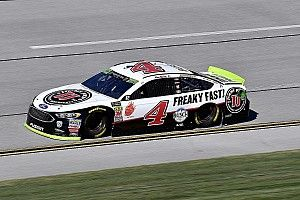 Harvick holds off SHR teammates for Stage 2 win at Talladega