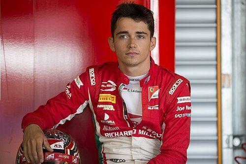 F2 Spa: Leclerc scoort zevende pole op regenachtig circuit