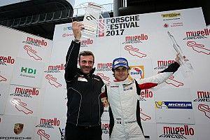 """Carrera Cup Italia, Pellegrinelli al top al Mugello: """"Dedicato a noi!"""""""