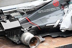 هاس يحصل على إذن لإصلاح سيارته عقب الحادثة العنيفة خلال التجارب الحرة