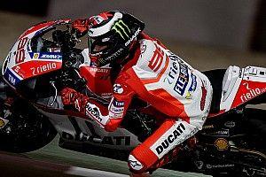 Première chute pour Lorenzo chez Ducati