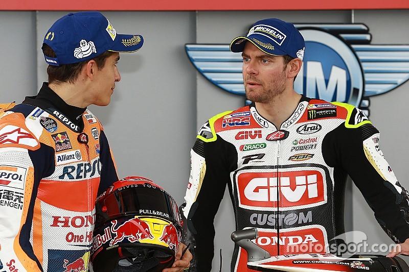 Crutchlow sesalkan Marquez tidak finis balapan