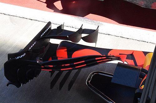 Red Bull: si studiano i movimenti dell'ala anteriore della RB13