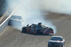 Busch and Truex's teamwork ends in disaster at the Brickyard - video