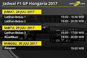 Jadwal lengkap F1 GP Hongaria 2017