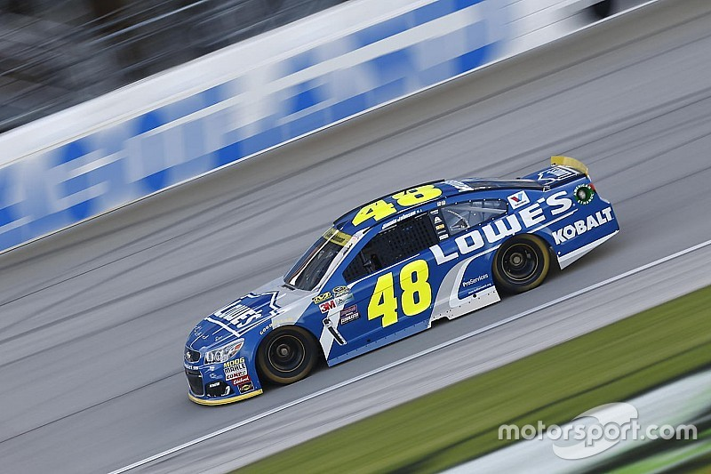 Jimmie Johnson leads the first practice session of the Chase