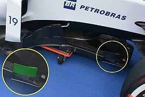Bite-size tech: Williams FW38 splitter and rear end detail