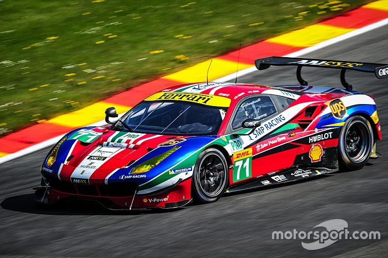 Ferrari 488 GTE monopolises the front row at Spa