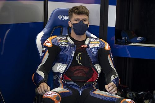 """Gerloff finding it """"strange"""" to share a MotoGP garage with Rossi"""
