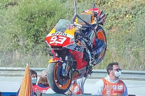 MotoGP, Jerez, Libere 3: svetta Nakagami, che botto Marquez!