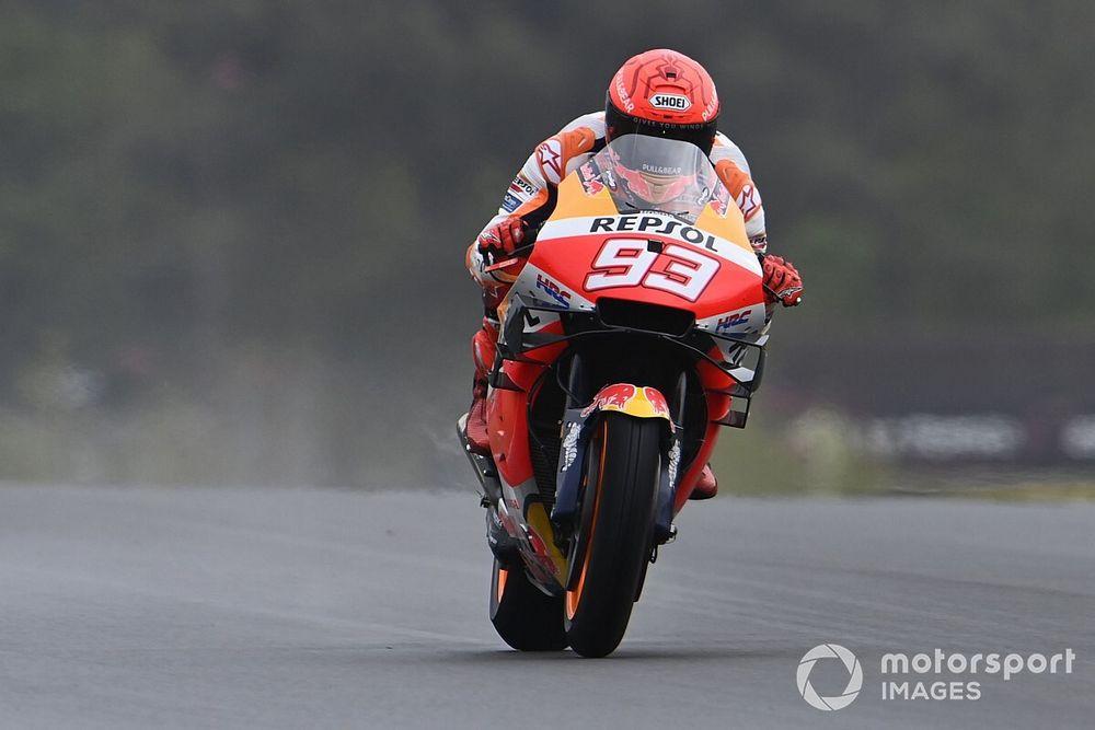 """Márquez amaro: """"Non ho saputo cogliere l'occasione della pioggia"""""""