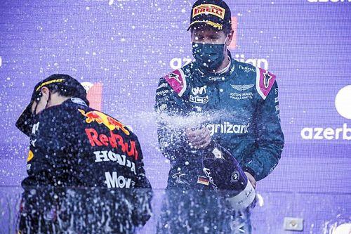 'Feliz Navidad a Checo' y más: el show de Vettel tras Bakú