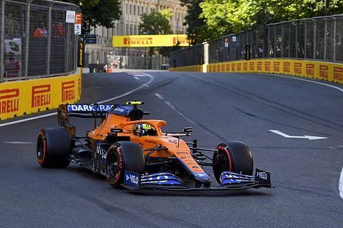 Norris recibe tres puestos de sanción y Pérez avanza un lugar