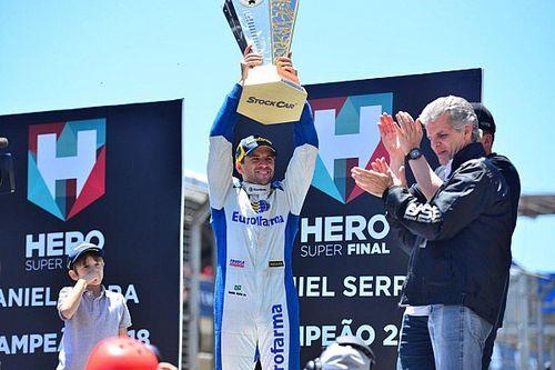 """Serra celebra título """"tenso"""": """"achei que o pneu furou umas 6 vezes"""""""