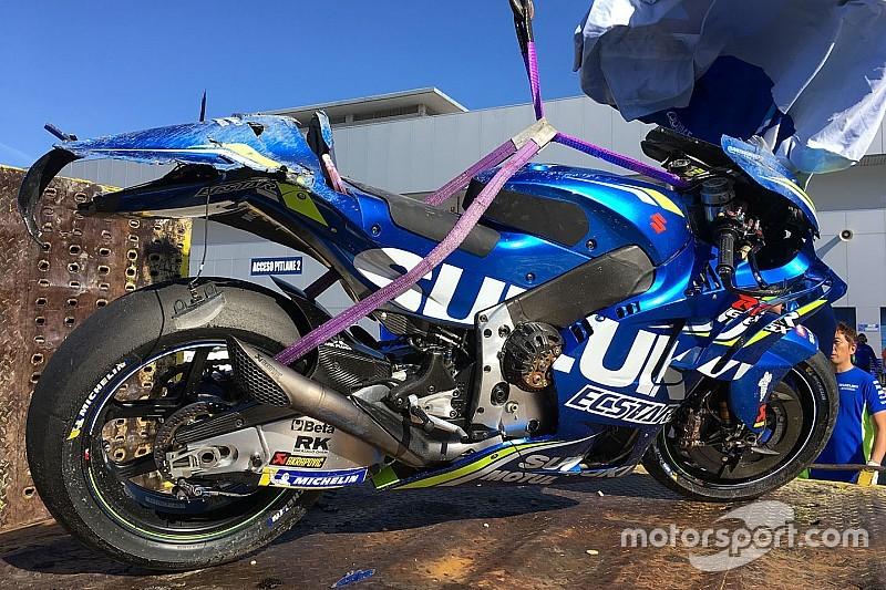 Mir acaba en el centro médico tras su primera caída en MotoGP