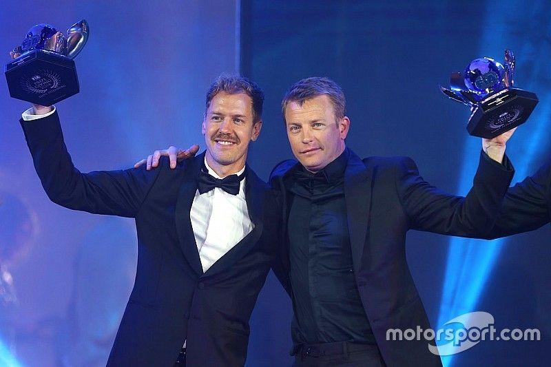 Raikkonen fue la estrella de los cena de Gala de la FIA donde Hamilton fue coronado