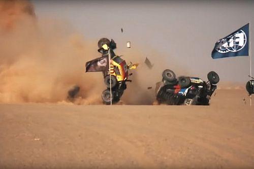 VIDEO: choque en la séptima etapa de la África Eco Race