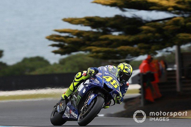 """Rossi: """"Para dar una vuelta rápida aquí, con gotas de lluvia en la visera, hay que tener pelotas"""""""