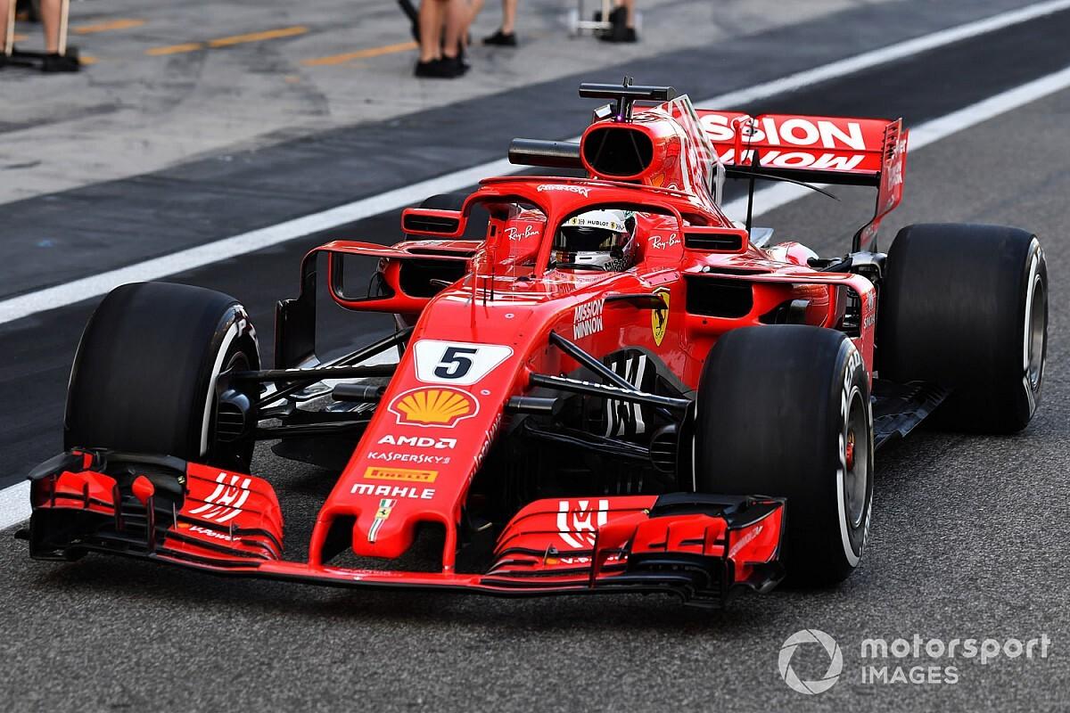 Abu Dhabi, Test Pirelli F1: Vettel torna ai box con l'ala posteriore rotta