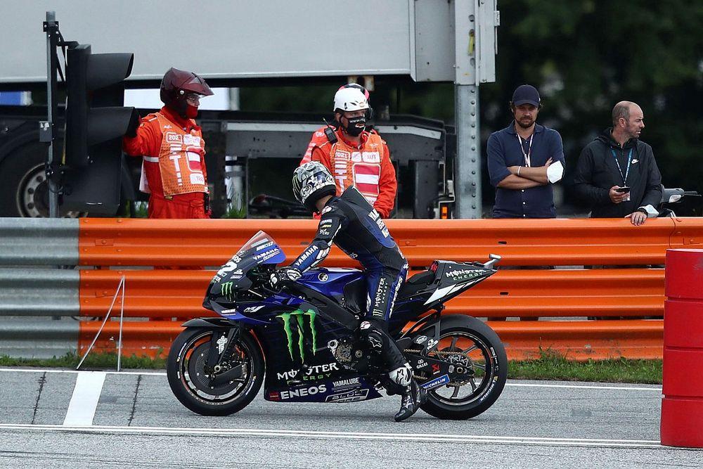 Yamaha baja a Viñales en el GP de Austria por dañar la moto