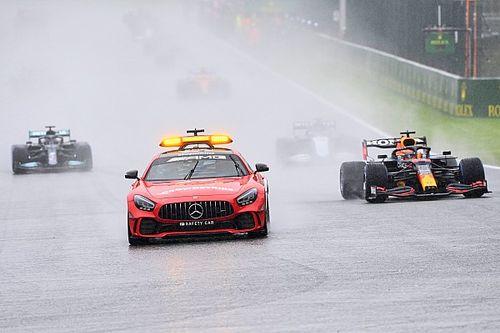 Regen spelbreker in Spa, Verstappen krijgt halve punten voor zege