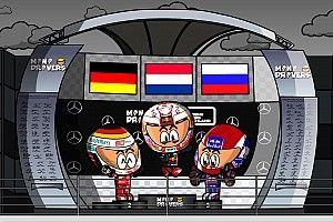 Video: el alocado GP de Alemania 2019 de F1, por MiniDrivers