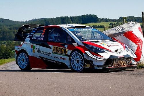 WRC: Toyota ha fatto esordire in Germania due novità per le Yaris