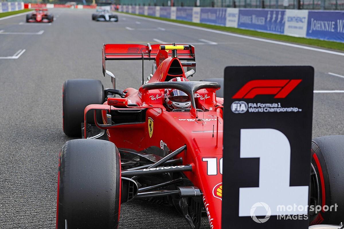 La parrilla de salida del GP de Bélgica