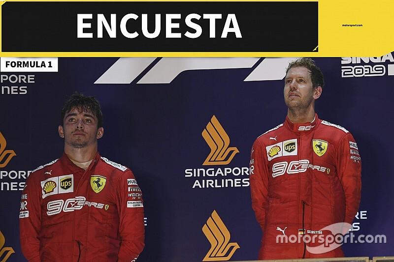 Encuesta Vettel-Leclerc Singapur
