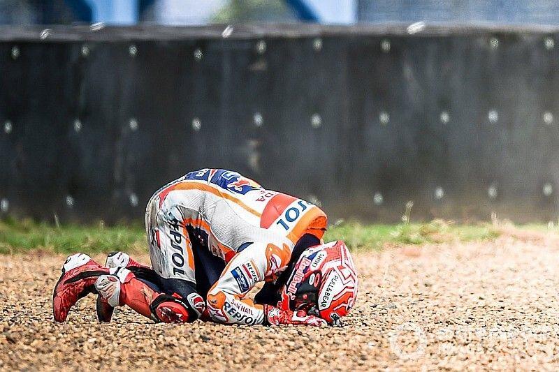 "Marquez ""couldn't breathe"" for five seconds after crash"
