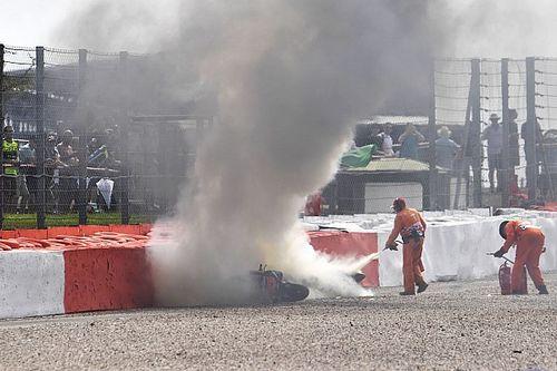 Dovizioso naar ziekenhuis na zware crash Britse GP