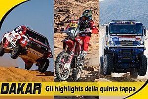 Dakar 2021, Tappa 5: gli highlights di auto, moto e camion