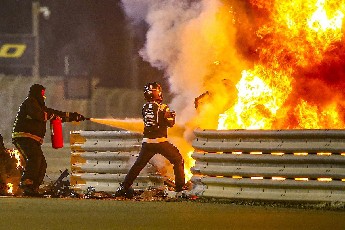 """""""Estava em paz, pensando que ia morrer"""": Grosjean faz relato emocionante sobre acidente"""