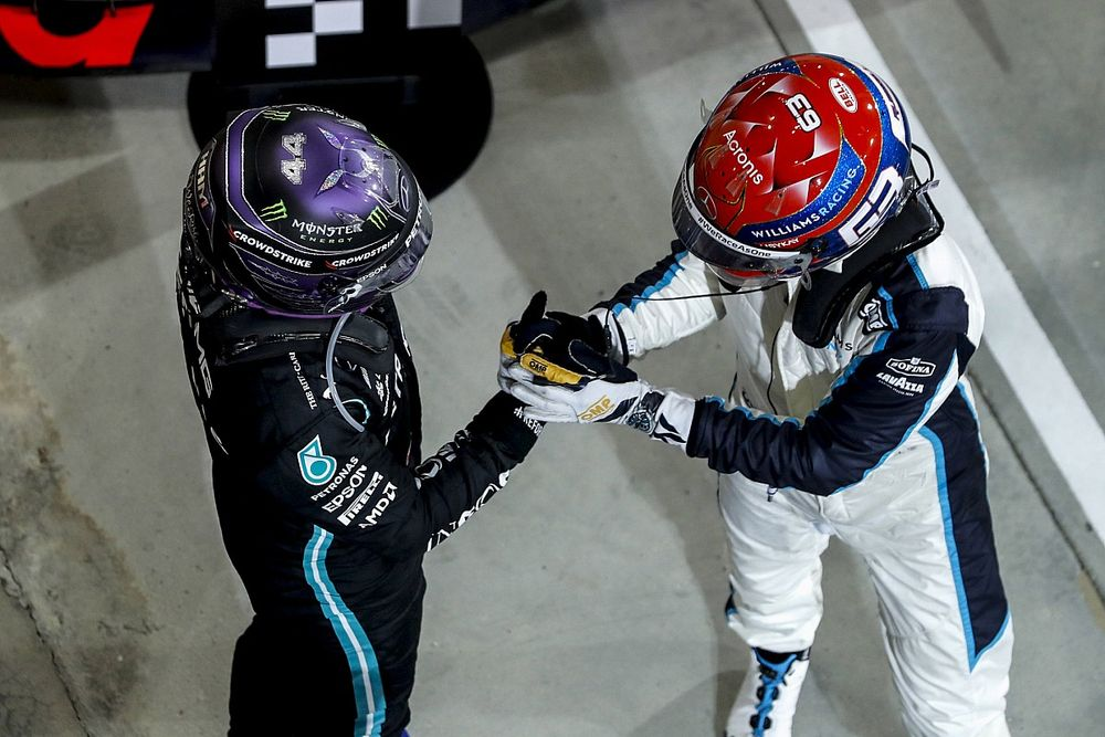 """Russell: Hamilton gets better with age """"like a fine wine"""""""