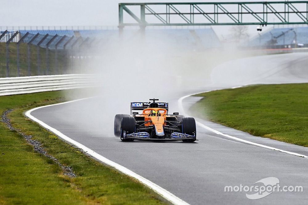 F1: la McLaren MCL35M fa il suo esordio in pista con Norris