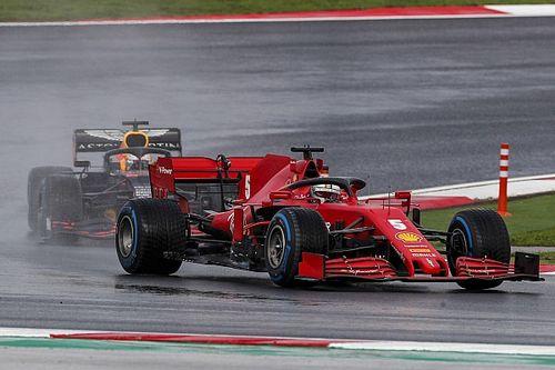 """Vettel """"costaud"""" face à Verstappen et Hamilton sous la pluie"""