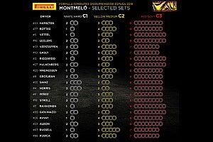 スペインGPのタイヤ選択が公開。3強チームのソフトタイヤ選択に差が出る