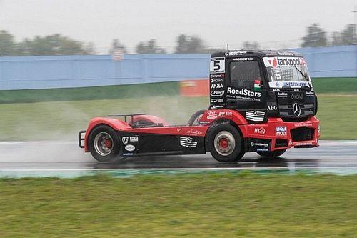 FIA ETRC, Q2: la Pole sotto al diluvio va al truck Mercedes di Kiss