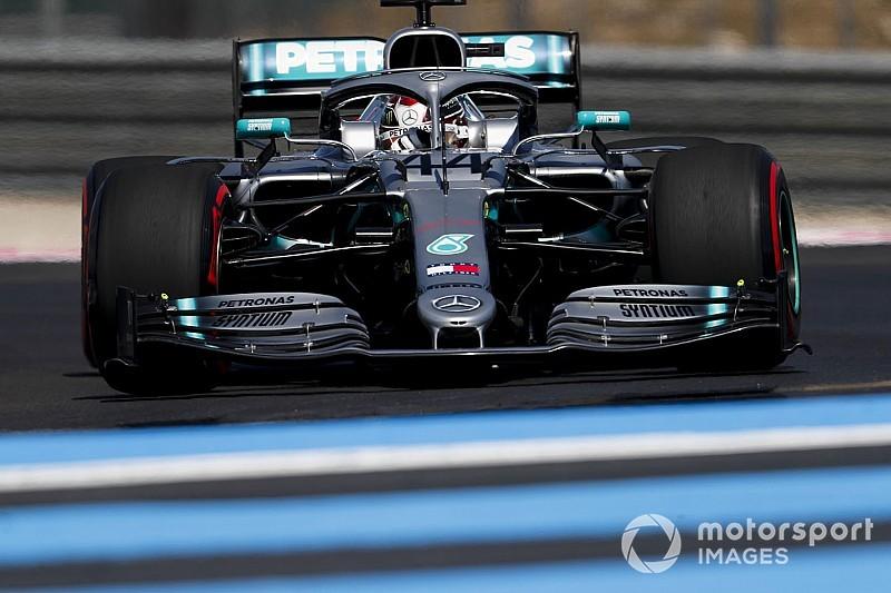 Hamilton verslaat Bottas voor pole in Frankrijk, Verstappen P4