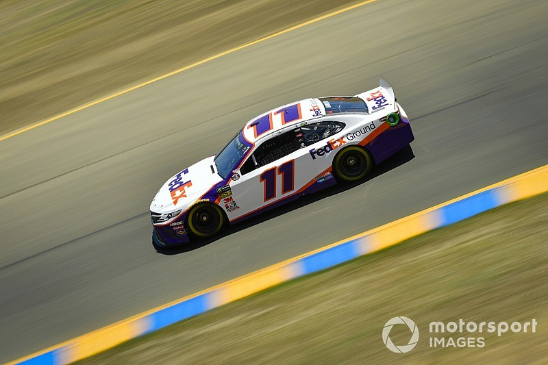 Denny Hamlin wins Stage 2 at Sonoma as leaders short-pit