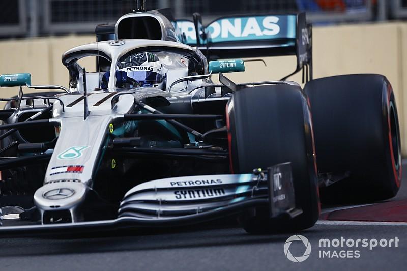 A Baku due Mercedes in prima fila con Bottas in pole. Vettel è terzo, Leclerc sbatte